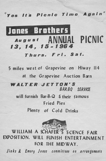 Jones Family Picnic Flyer